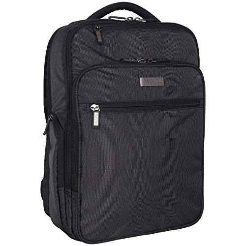 """41YEuVlu07L - Kenneth Cole Reaction Brooklyn Commuter 16"""" Backpack Pink Dot Charcoal One Size"""