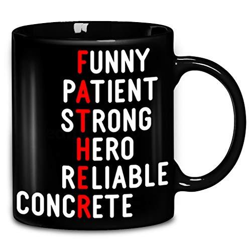 Funny Patient Strong Hero Reliable Concrete Coffee Mug 11oz & 15oz Ceramic Tea Cups