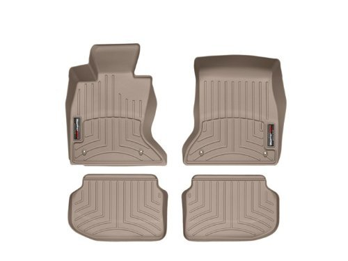 2011-2013 BMW 5-Series (F10/F11)-Weathertech Floor Liners-Full Set (Includes 1st and 2nd Row)-Fits Sedan with All-Wheel-Drive - Tan