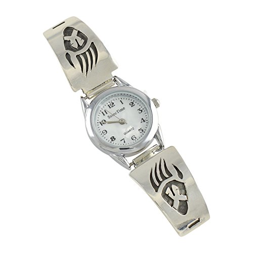 Select Jewelry Displays Richard Cisco Sterling Silver Overlay Ladies Watch Navajo Native American