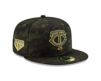 New Era Minnesota Twins 2019 MLB Armed Forces Day On-Field 59FIFTY Fitted Hat - Camo