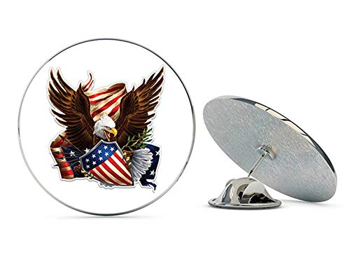NYC Jewelers American Eagle Shield Patriotic Metal 0.75