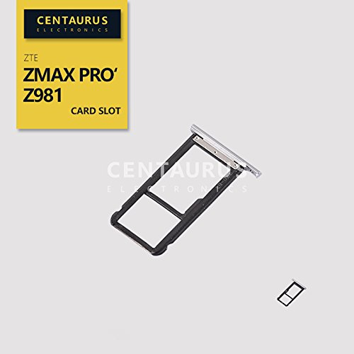 - For ZTE ZMax Pro Z981 New SIM SD Card Slot Memory Tray Holder Part Replacement