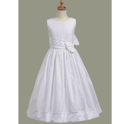 Lito Plus Size Girls White Satin Sparkle Communion Dress 14.5 by Lito