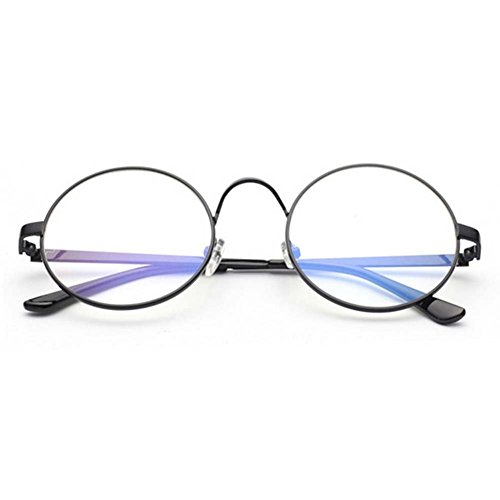 LOMOL Girls Fashion Retro Personality Cute Student Style Transparent Lens Round Frame - Glasses Price Transition Lens