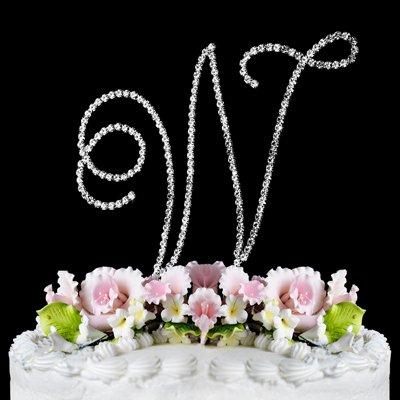 RENAISSANCE MONOGRAM WEDDING CAKE TOPPER LARGE LETTER W