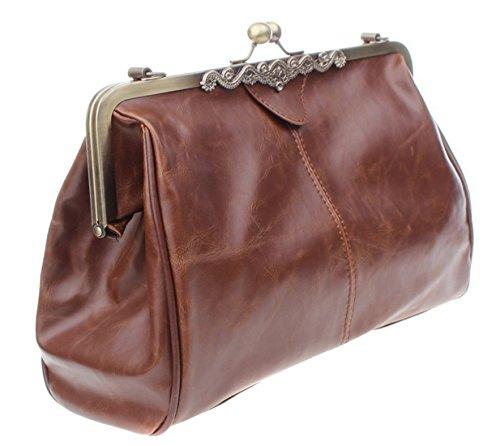 Lalang PU-Leder Beiläufige Retro Paket Beutel Messenger Handtasche Schultertasche
