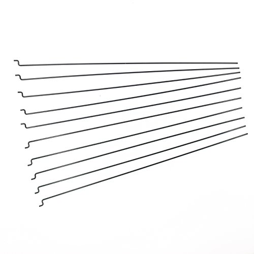 Φ1.2mm x L180mm (7.1 inch) Steel Z PULL / PUSH Rods Parts for RC Airplane Plane Boat Replacement (Pack of ()