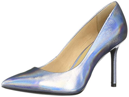 Katy Perry Women's The Sissy-Metallic Canvas Pump Silver 9.5 Medium US