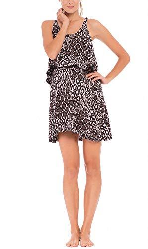 Olian The Jane Leopard Print Maternity/Nursing Nightgown - Olian Maternity Wear