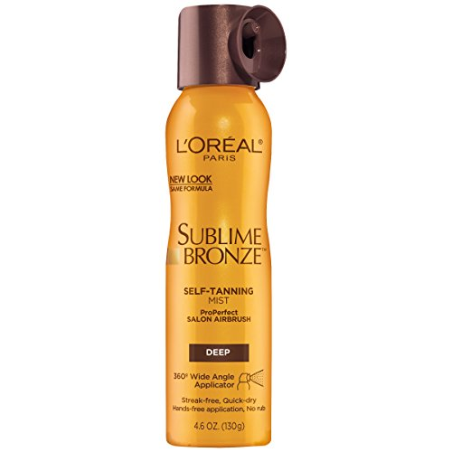 L'Oreal Paris Sublime Bronze Self-Tanning Mist Deep Natural Tan 4.6 oz. (Best Sunless Tanning Spray)