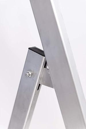 Scala Leggera modelloTorino Domestica Casa o Ufficio Maneggevole Prodotto In Italia Alluminio, 7 Gradini= 2,26 m