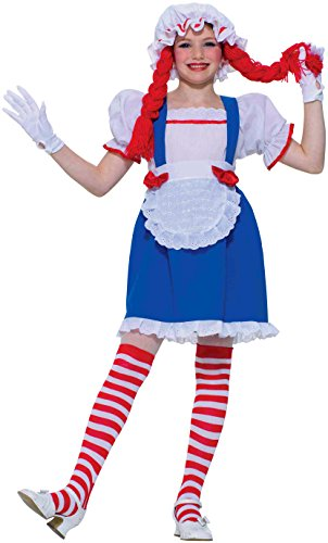 Forum Novelties Rag Doll Child Costume, (Raggedy Ann Wig Baby)