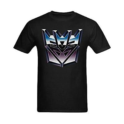 Men Solid Transformers Decepticons Design T-Shirt