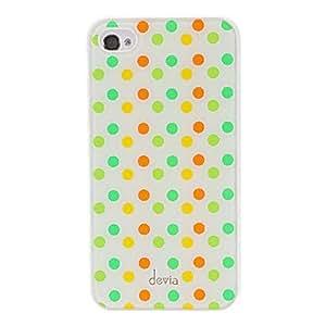 TY- Puntos redondos del caso del patrón DEVIA Conciso colorido superficie lisa dura de la PC para el iPhone 4/4S