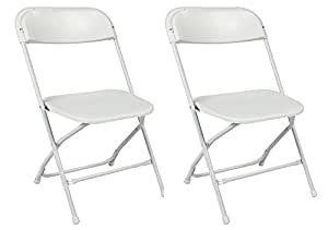 Amazon Com Commercial Grade White Plastic Folding Chairs