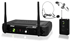 PylePro Model : PDWM1904UHF Wireless Microphone System KitPremier Series Professional UHF Wireless Microphone System, Includes Body-Pack Transmitter, Headset Mic & Lavalier Mic System Features:UHF Band Microphone SystemSimple Setup & ...