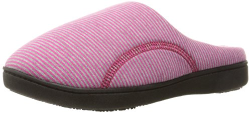 ISOTONER Womens Athena Slip On Cushioned Slipper with All Around Memory Foam for Indoor/Outdoor Comfort