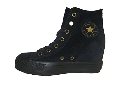 Polacchino High Nero Black Plus Camoscio Ct Plat Monoch Converse 546207c 7gPxYt