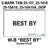 168,000 X-Mark 2516 compatible ''Best By'' White General Purpose Labels to fit the X-Mark TXM 25-107, 25-1010, 25-10A10, 25-10A10A & 25-5P Price Guns. Full case, includes 8 ink rollers.