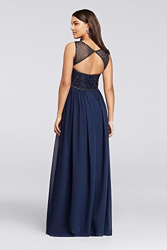 Novelty Long Bridesmaid Dress with Illusion