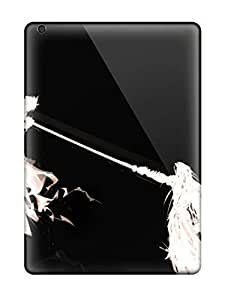 For Ortiz Bland Ipad Protective Case, High Quality For Ipad Air White Anime Fighters On Black Skin Case Cover