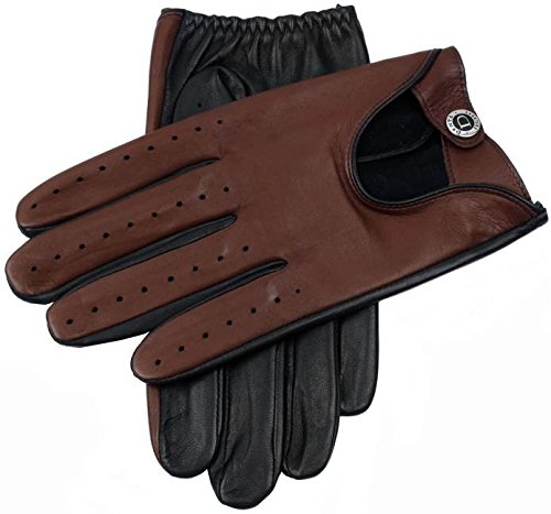 Dents Mens Woburn Hairsheep Leather Gloves - Black/English Tan - Extra Large