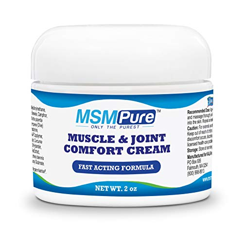 Kala Health MSMPure Maximum Strength Muscle & Joint Comfort MSM Cream, Non-Staining Formula, Fast Acting for Muscle and Joint Discomfort, Made in The USA, 2 oz