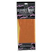 "Club Pack of 36 Orange Gleam 'N Wrap Decorative Metallic Sheets 30"""