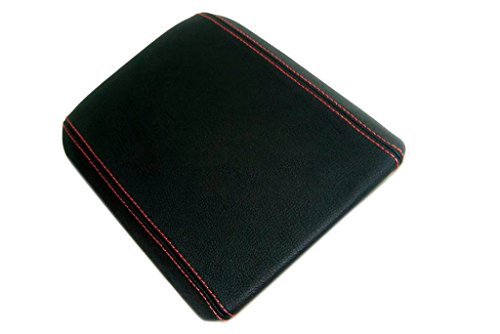 - Autoguru Ford Mustang Center Console Armrest Synthetic Leather Black Cover Red Stitch for 05-09