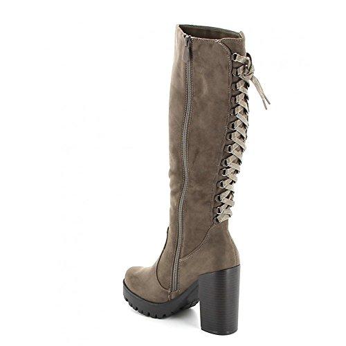 Misstic - Botas de Lona Mujer marrón