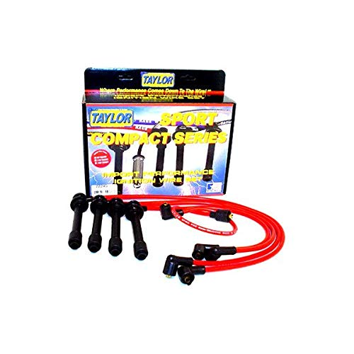 - Taylor Cable 77245 Spiro-Pro Red Spark Plug Wire Set