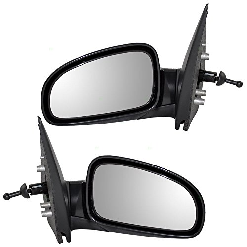 Driver and Passenger Manual Remote Side View Mirrors Replacement for Chevrolet Aveo & Aveo5 Pontiac G3 Suzuki Swift 96406187 96406189 AutoAndArt