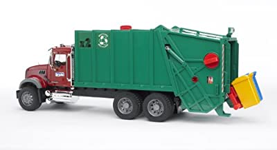Bruder Toys Mack Granite Garbage Truck (Ruby, Red, Green) from Bruder Toys