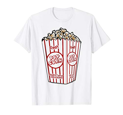 Popcorn T-Shirt Funny Easy Last Minute Halloween Costume Tee -
