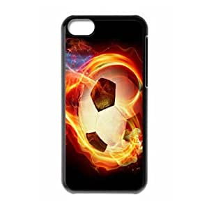 Beautiful Soccer Pattern Hard Shell Phone Case For For iphone 5C Case FKGZ440197