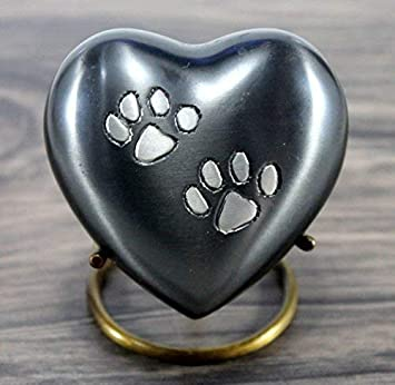 eSplanade Pet Keepsake cremation urn Memorial Container Jar Pot | Brass Urns | Metal Urns| Burial Urns| Memorial Keepsake| Urns for Pets, Dogs, Cats