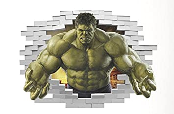 Charmant Marvelu0027s Incredible Hulk Peel And Stick 20 Inch X 28 Inch Removable Wall  Decal The Incredible