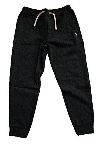 Polo Ralph Lauren Mens Fleece Running Pants Joggers (Large, Black Heather) (Ralph Lauren Fleece Mens)