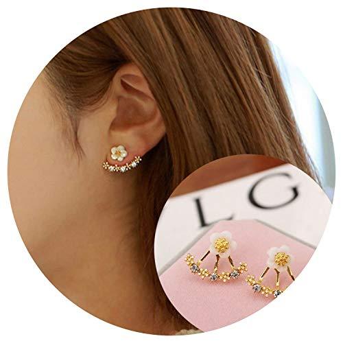 Aworth Korean Daisy Flower Ear Ornaments Pearl Horse Eye Leaf Snowflake Stud Earrings Wholesale Booth, Goldendaisyflower