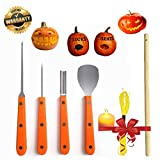 Pumpkin Carving Kit Professional Tools Stainless Steel LED Candle Wood Stick Light String Set Halloween Decoration Accessories