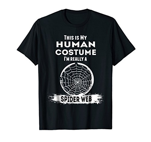 Spider Web Halloween Costume T-Shirt This is my Human Costum