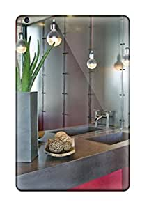 Premium Protection Contemporary Red Bathroom With Pendant Lights Case Cover For Ipad Mini/mini 2- Retail Packaging