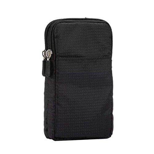 Pouch Vertical layer Belt Bag Three Adjustable Shoulder Cellular Simple Waist Nylon 50qtXwq