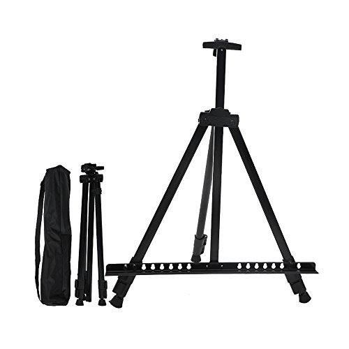 Zhi Jin Adjustable Artist Picture Easel Stand Tabletop Floor for Oil Watercolor Painting Table Top Display with Bag 61 Inches