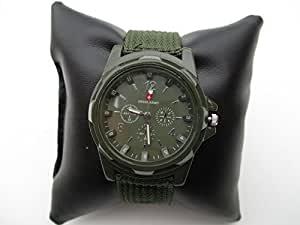 Swiss Army Men's WA2574A Green Fabric Strap Watch