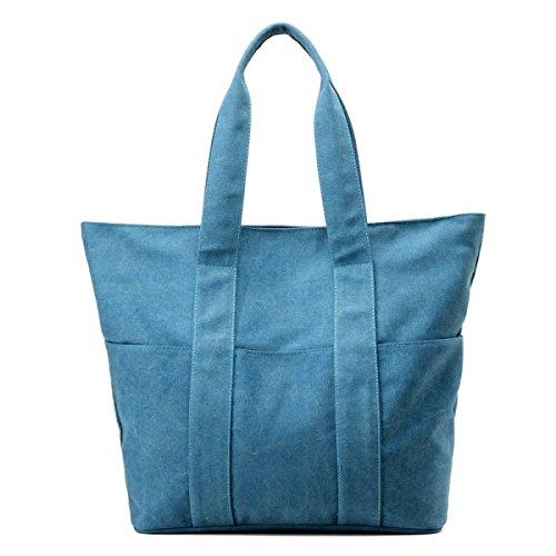 Frauen Vintage-Leinwand Messenger Ipad Schulter Handtasche Riemen Multifunktions Tasche ,E-OneSize