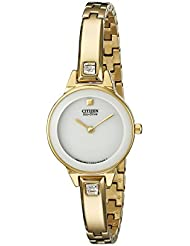 Citizen Womens EX1322-59A Silhouette Stainless Steel Swarovski Crystal-Accented Eco-Drive Watch