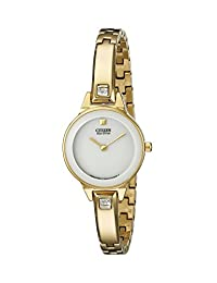 Citizen Women's EX1322-59A Silhouette Stainless Steel Swarovski Crystal-Accented Eco-Drive Watch