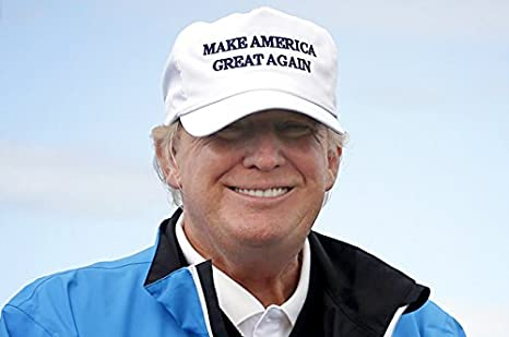MAKE AMERICA GREAT AGAIN! - Trump 2016 Adjustable Cap with Rope Front, Beautiful EMBROIDERED Text (Camo) BRC